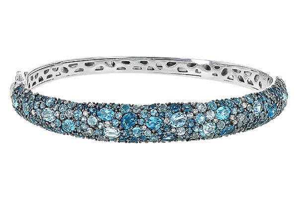 B217-39425: BANGLE 7.60 BLUE TOPAZ 7.85 TGW