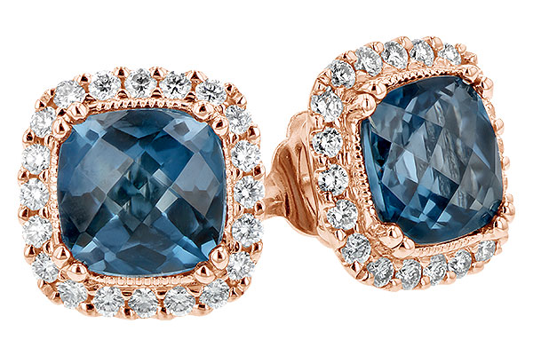 D216-46661: EARR 2.14 LONDON BLUE TOPAZ 2.40 TGW
