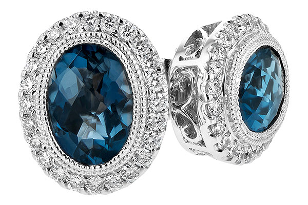 E216-46652: EARR 1.76 LONDON BLUE TOPAZ 2.01 TGW