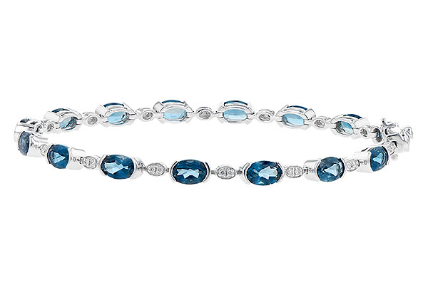 L217-42179: BRACELET 7.20 LONDON BLUE TOPAZ 7.36 TGW
