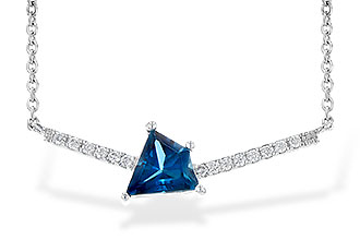 L217-43015: NECK .87 LONDON BLUE TOPAZ .95 TGW