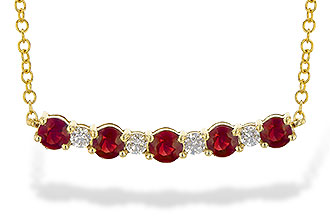 L217-44824: NECK .58 TW RUBY .70 TGW