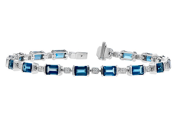 M300-11224: BRACELET 7.90 LONDON BLUE TOPAZ 8.13 TGW