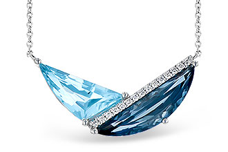 M300-12151: NECK 4.66 BLUE TOPAZ 4.75 TGW